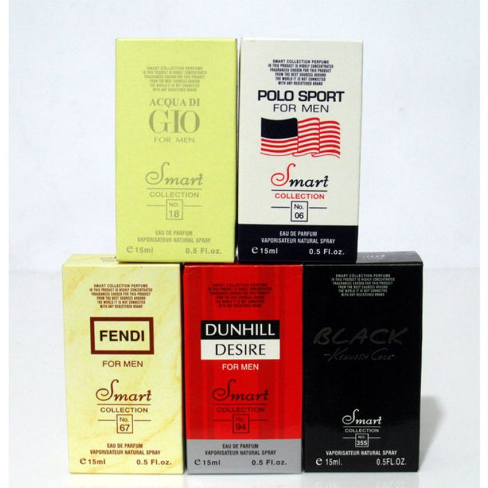 Pack of 5 Perfumes for Men