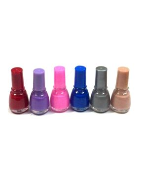 Eyeshah's pack 6 nail paints peel off multicolor