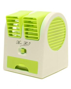 Kings Computers Mini Air Conditioner USB Perfumed Fan - Green & White