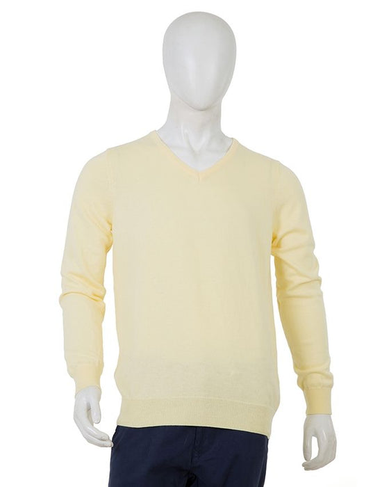 Gul Ahmed Cream Cotton Sweater for Men - Fs-Swt-D15-1