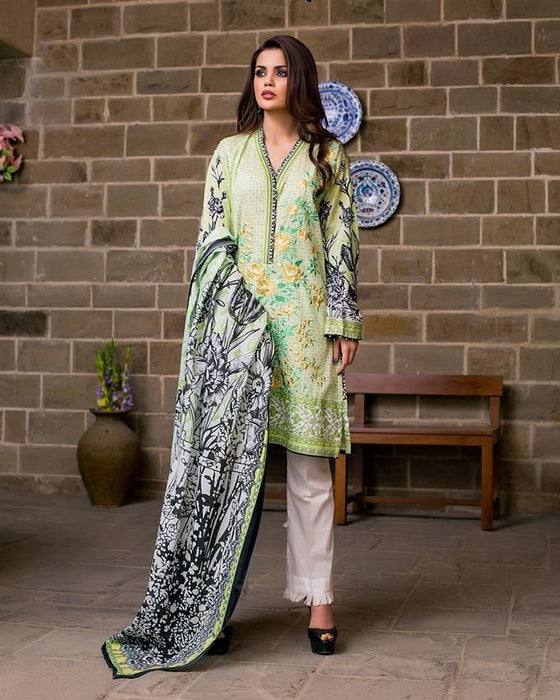 Gul Ahmed Green Spring/Summer 2017 Collection  Two Piece Embroidered Lawn-TL # 87 A
