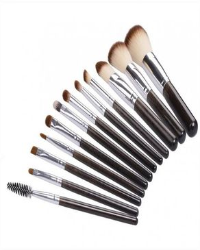 Nadiaz Pack Of 12 - Cosmetic Brushes - Black