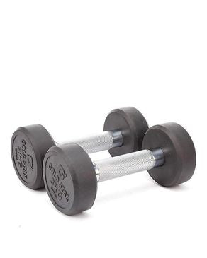 Let's Shop Pair of 3 Kg - Rubber Coated Dumbbell - Black