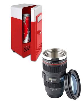 HashTag Camera Lens Mug and USB Fridge - Black & Red