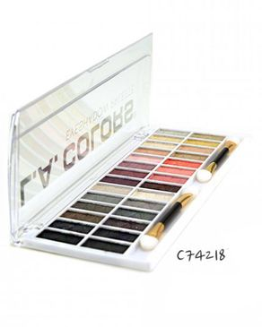 L.A Colors 28 Color Eyeshadow Palette - Malibu