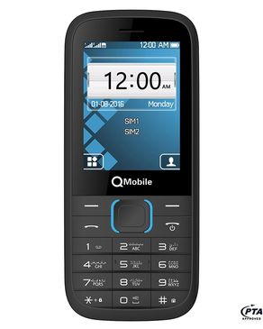 "QMobile M3 - 2.4"" Screen - Dual Sim - Black"