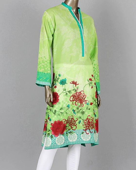 Junaid Jamshed Green Lawn Unstitched Suit for Women - 2pcs - JLAWN-S-JDS-17-1011/A Floral Trunk