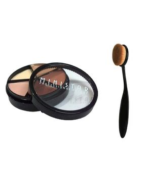 Eyeshah's Concealer & Highlighting Kit with blending brush