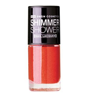 DMGM Red Shimmer Shower Nail Lacquer Autumn Infusion-02