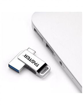 Faster Android USB Flash Drive - 8GB - Silver
