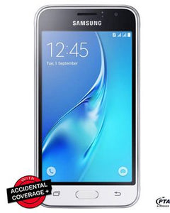 "Samsung Galaxy J1 J120F - 4.5"" - 8GB - 1GB RAM - 5MP Camera - White"