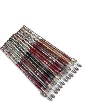 Eyeshah's Pack of 12 - ADS Eye & Lip Pencil - Multicolor