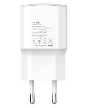 Infinix USB Fast Travel Charger With Cable - White