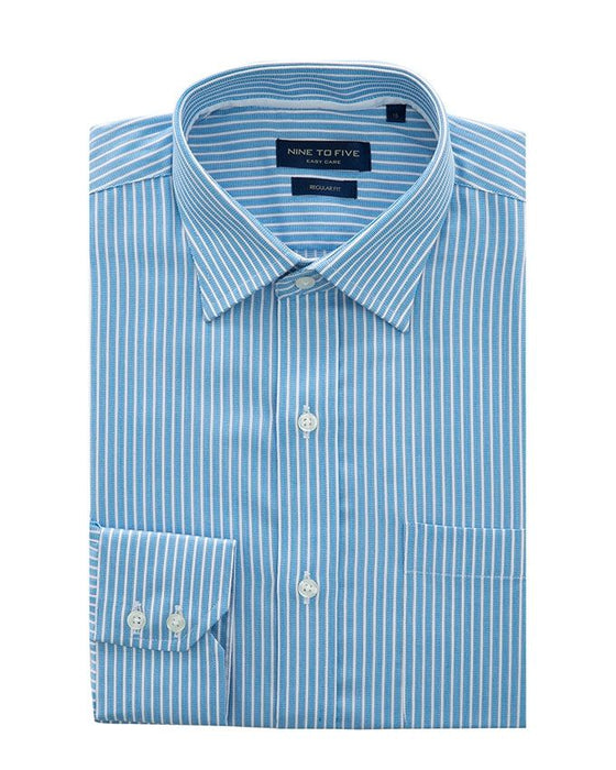 Gul Ahmed Blue Cotton Polyester Formal Shirt For Men - Cvc-Yd-395