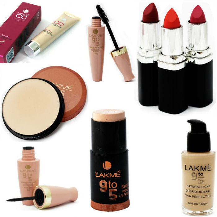 Pack of 9 Lakme Products for Her