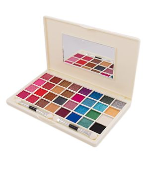 Glamorous Face 32 Color Makhmally Eyeshadow Kit For Women - Multicolour