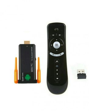 Fast Mobile Accessories CX-919 II - Quad Core Android Tv Stick With Free USB Gyroscope Air Mouse Remote - Black