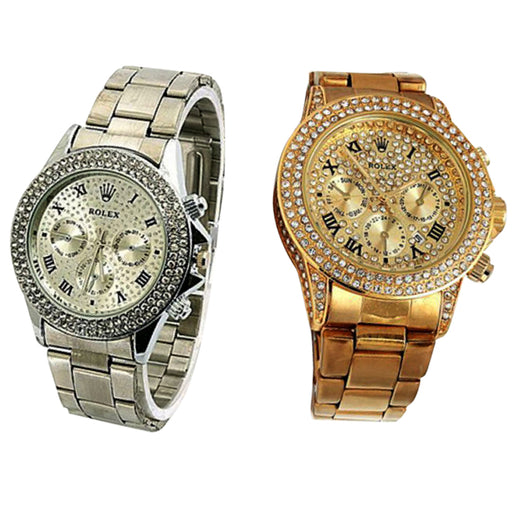 Pack of 2 Stylish Rolex Watches For Her