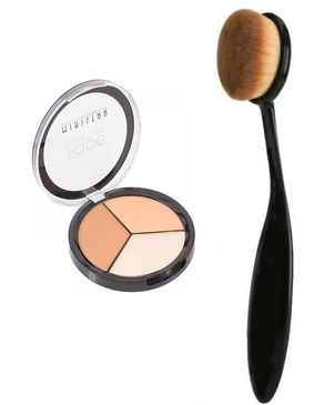 Eyeshah's Face Sculptor & Contour Kit with Oval Brush - For Women