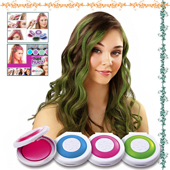 Pack Of 4 Temporary Hair Chalks Hot Huez