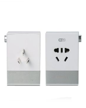 Remax Smart Wifi Socket Remote Monitoring Wireless With 2 Usb Ports 2.1a - White