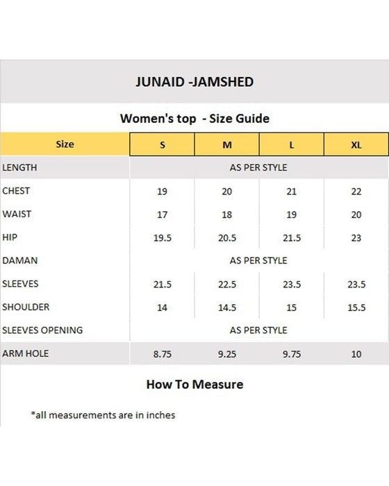 Junaid Jamshed Chrome Lawn Stitched Kurti for Women  - JJJLK-JSS-S-17-336 FB/Golden Era