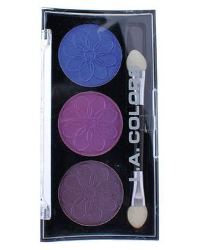 L.A Colors 3 Color Eyeshadow - Iris
