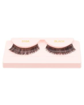 Glamorous Face Eyelashes - Black Natural