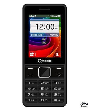 "QMobile ATV1 - 2.4"" Inches - Dual Sim - Digital Camera - Black"