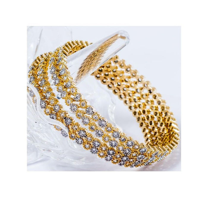 Pack of 4 Gold Plated Bangles for Women