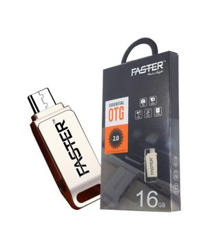 Faster Android USB Flash Drive - 16GB - Silver