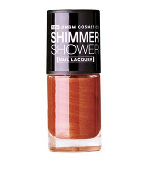 DMGM Red Shimmer Shower Nail Lacquer Auburn Flick-04