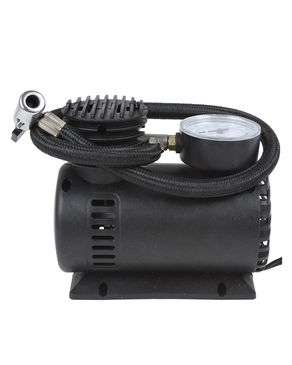 SF Collections LS-004 - Portable Tire Air Compressor - 18mm Piston - Inflator 12V - Black