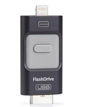 GS Wholeseller iFlash - 16GB - 3-in-1 - USB OTG Flash Drive -Black