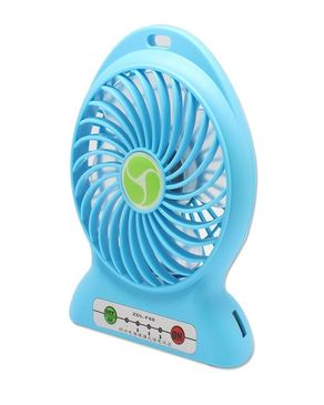 Gadget Arena Portable Rechargble Plastic USB Fan With Power Bank - Blue
