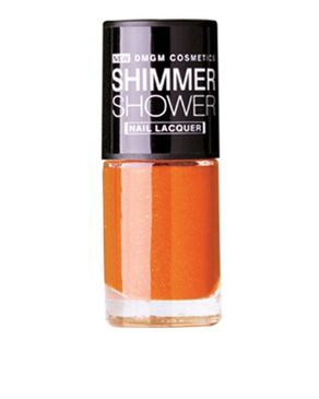 DMGM Orange Shimmer Shower Nail Lacquer Modest Sunset-01