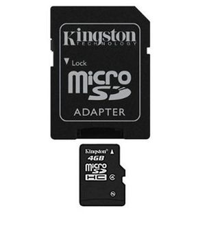 Kingston Memory Card - 4GB - Black