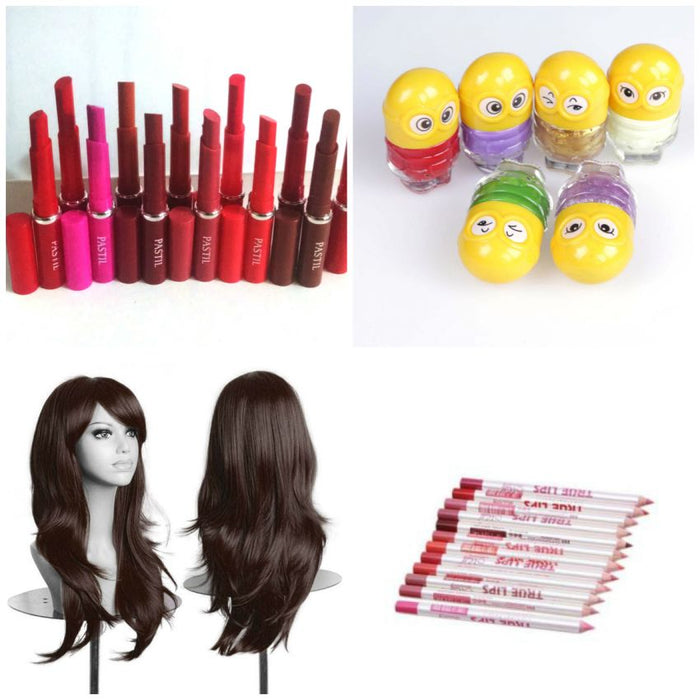Combo Deal - Pack of  31 Cosmetics & Hair Accessories Products for Women