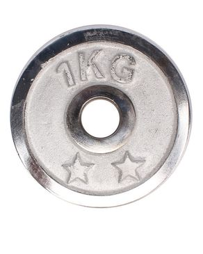 Let's Shop Weight Plate Chrome 1KG - Single Plate