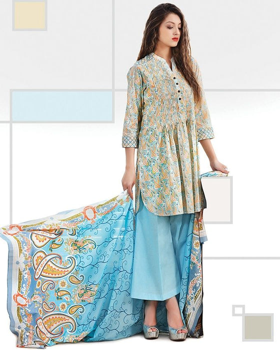 Gul Ahmed Turquoise Spring/Summer 2017 Collection Printed Lawn-CL # 228 A