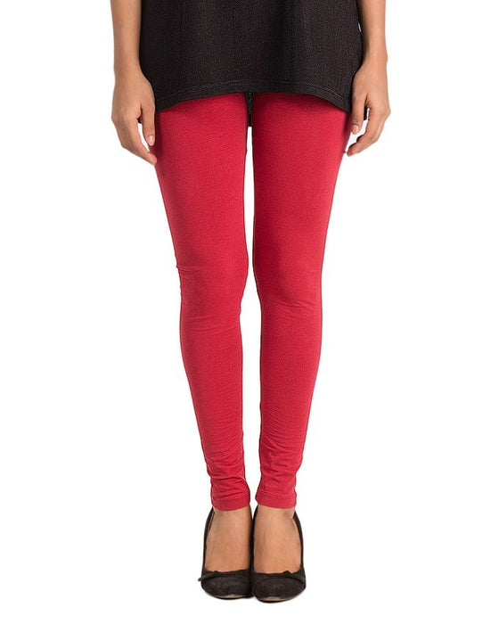 CrossRoads Red Cotton Mix Tights Lycra Jersey