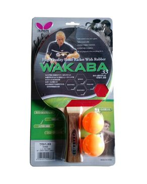 Butterfly Wakaba 33 - Table Tennis Racket Set - Red
