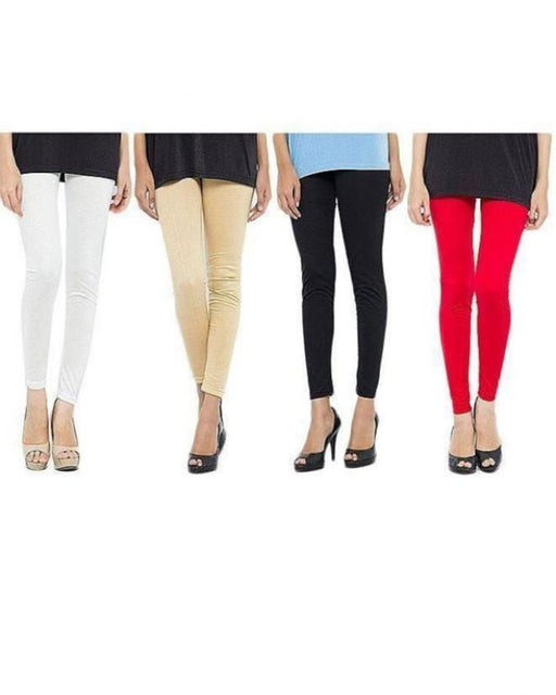 QK Styles Pack of 4 - Multicolor Tights for Women