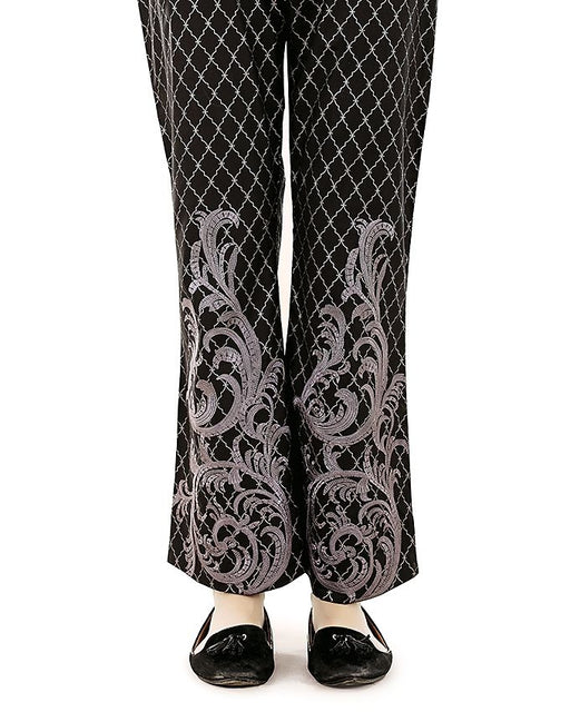 Lala Black Cambric Embroidered Fantaisie Trouser Collection
