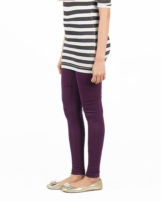 QK Styles Purple Viscose Tights For Women