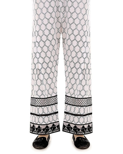 Lala White Cambric Print Fantaisie Trouser Collection