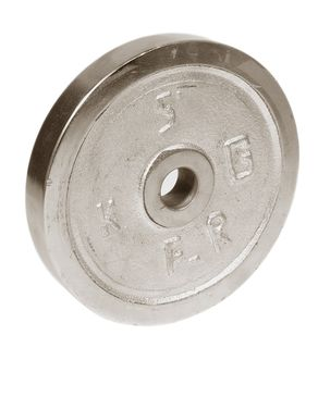 Hydro Fitness Pair of 5 Kg Weight Plates - Grey
