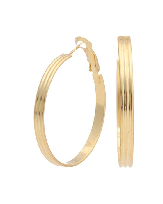 Style and Comfort Golden Lining Ear Rings - ER-7350