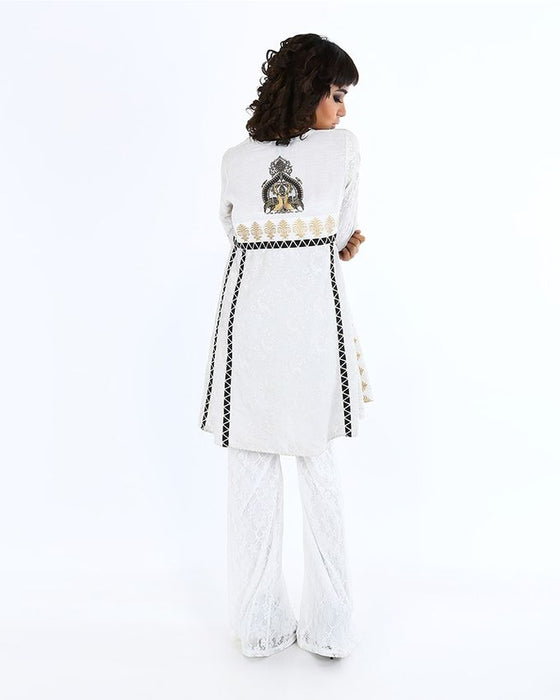 Ego Off White Mix Cotton Gleam Kurti