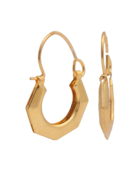 Style and Comfort Golden Curve Shape Ear Rings - ER-7347